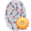 Image of fingerprint for biometrics